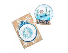 E663153 Set 6 troqueles THINLITS Christmas ornament flip and fold by Katelyn Lizardi Sizzix