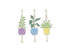 E663321 Set 4 troqueles THINLITS Hanging planter by Olivia Rose Sizzix