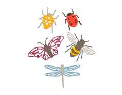 E663328 Set 5 troqueles THINLITS Insects by Jennifer Ogborn Sizzix