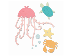 E663363 Set 5 troqueles THINLITS Under the sea by Olivia Rose Sizzix