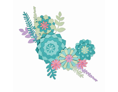 E663366 Set 15 troqueles THINLITS Succulent wreath by Lisa Jones Sizzix