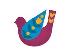 E663404 Troquel BIGZ Folk bird by Olivia Rose Sizzix