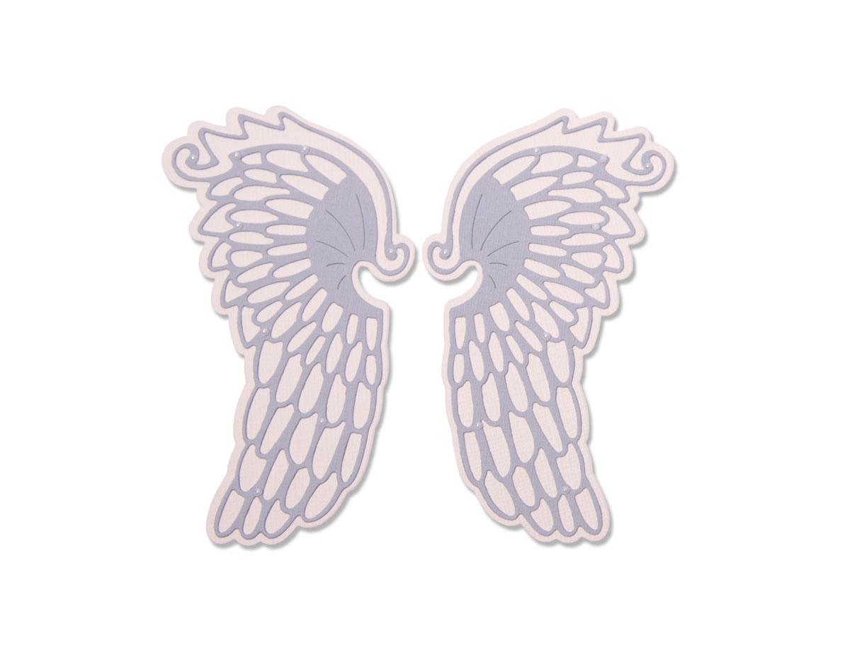 E663418 Set 4 troqueles THINLITS Angel wings by Lisa Jones Sizzix