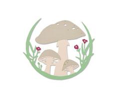 E663420 Troquel THINLITS Mushroom wreath by Jessica Scott Sizzix