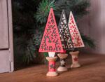 E663442 Set 4 troqueles THINLITS Folk Christmas tree by Lisa Jones Sizzix - Ítem2