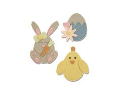 E663492 Troquel BIGZ L Bunny chick and egg Sizzix