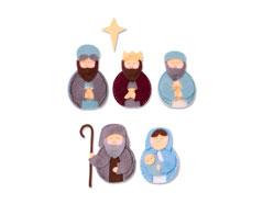 E663498 Troquel BIGZ L Sweet nativity Sizzix