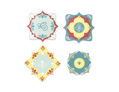 E663592 Set 14 troqueles THINLITS Corners and labels by Courtney Chilson Sizzix