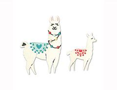 E663594 Set 11 troqueles THINLITS Llama and baby llama by Katelyn Lizardi Sizzix