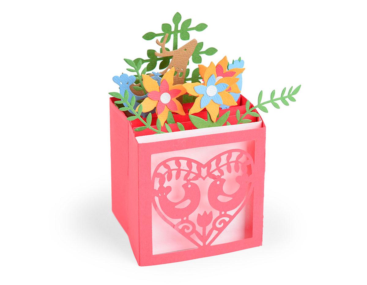 E663603 Set 12 troqueles THINLITS Card in a box Christmas by Lynda Kanase Sizzix