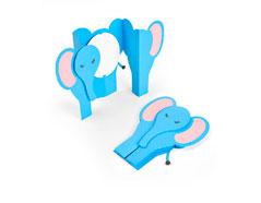 E663604 Set 6 troqueles THINLITS Card elephant fold-a-long by Jen Long Sizzix