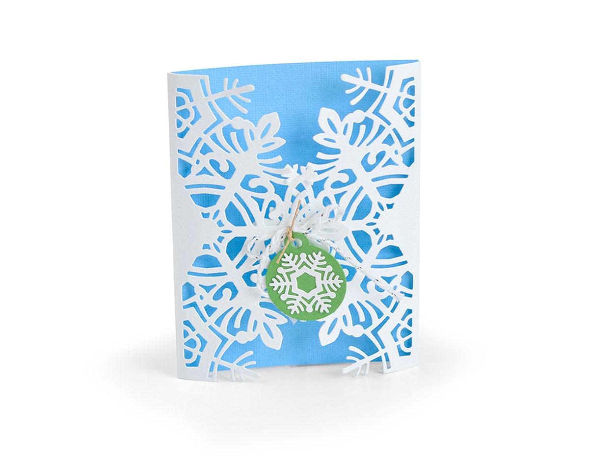 E663606 Set 4 troqueles THINLITS Card wrap snowflake by Jordan Caderao Sizzix