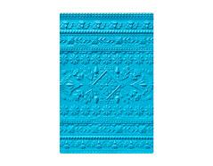 E663613 Placa de textura 3D TEXTURED IMPRESSIONS Folk art pattern by Courtney Chilson Sizzix - Ítem