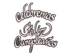E663665 Set 4 troqueles THINLITS Celebramos y Feliz cumpleanos by Luisa Elena Guillen-K Sizzix