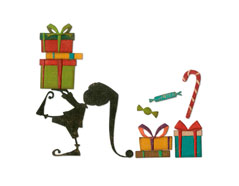 E664192 Set 11 troqueles THINLITS Santas helper by Tim Holtz Sizzix