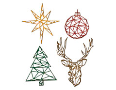 E664202 Set 4 troqueles THINLITS Geo Christmas by Tim Holtz Sizzix