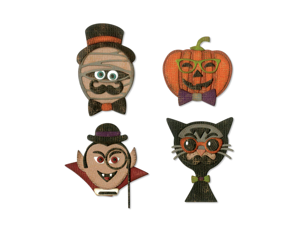 E664206 Set 10 troqueles THINLITS Hip haunts by Tim Holtz Sizzix