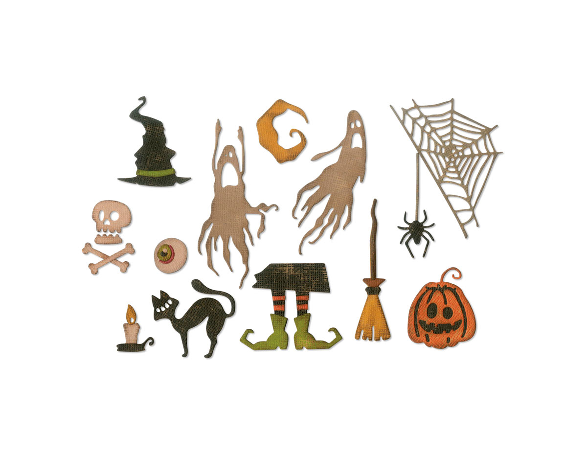 E664209 Set 17 troqueles THINLITS Frightful things by Tim Holtz Sizzix