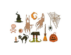E664209 Set 17 troqueles THINLITS Frightful things by Tim Holtz Sizzix - Ítem