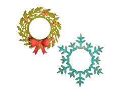 E664210 Set 5 troqueles THINLITS Wreath and snowflake by Tim Holtz Sizzix