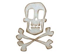 E664215 Troquel BIGZ Skull and crossbones by Tim Holtz Sizzix
