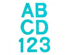 EA10083 Set 9 troqueles BIGZ Alphabet capital letters and numbers 3 8cm Sizzix