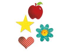 EA10598 Troquel BIGZ Apple flower heart and star Sizzix