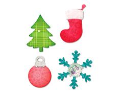 EA10599 Troquel BIGZ Christmas tree ornament snowflake and stocking Sizzix