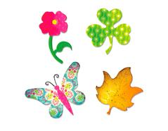 EA10600 Troquel BIGZ Butterfly flower leaf and shamrock Sizzix