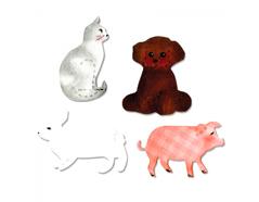 EA10675 Troquel BIGZ Cat dog pig and rabbit Sizzix