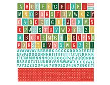 EVR-4685 Pegatinas alfabeto EVERGREEN en hoja Basic Grey