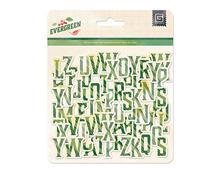 EVR-4689 Pegatinas alfabeto de carton EVERGREEN Basic Grey