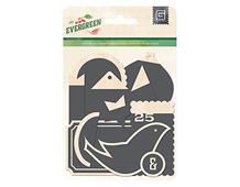 EVR-4691 Etiquetas de madera con pizarra EVERGREEN Basic Grey