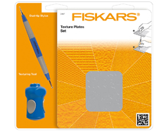 F0447 Set 6 placas de textura 2 con 12 modelos y herramientas texturacion Fiskars