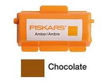 F5579 Tinta para rodillo tampones continuos chocolate Fiskars