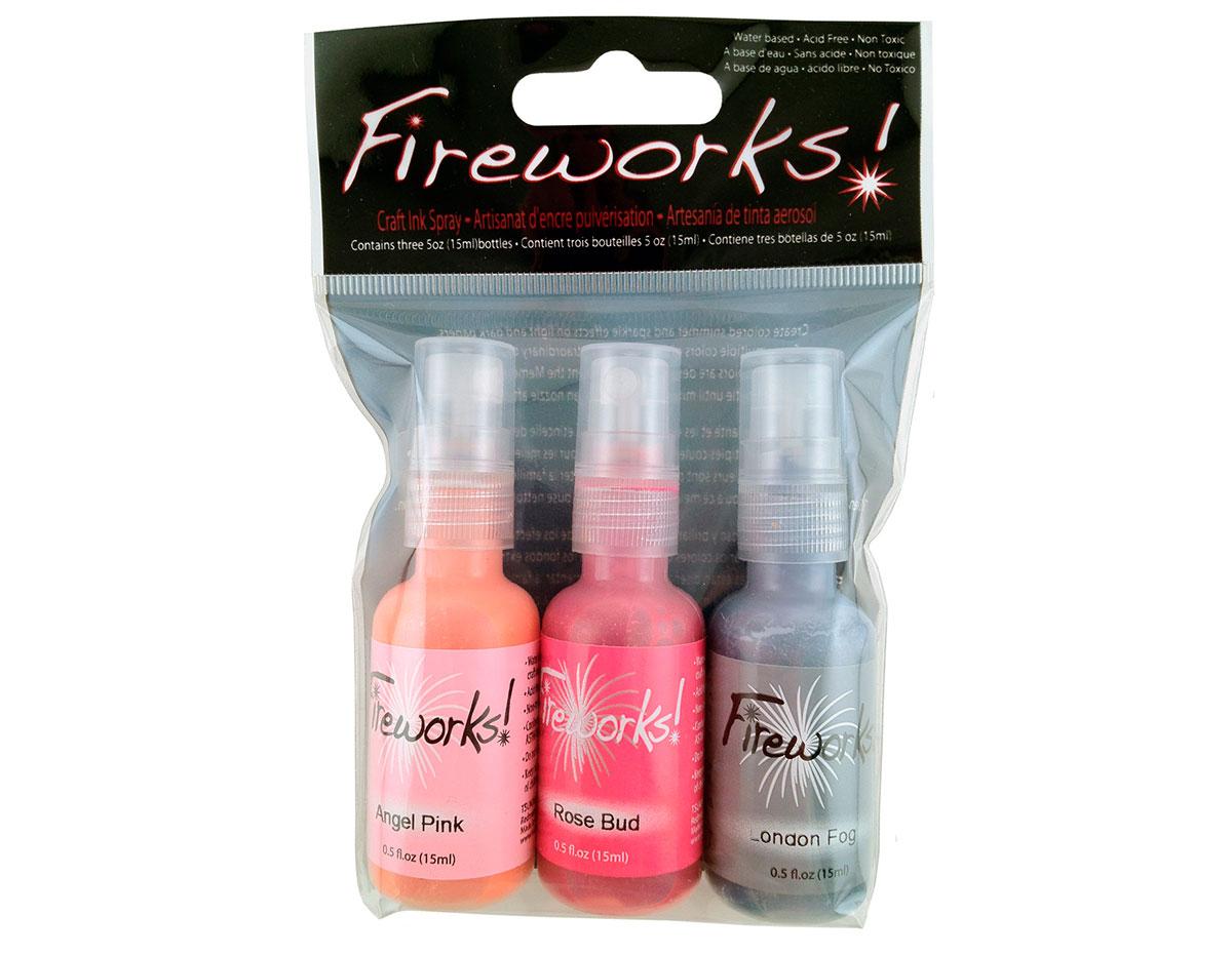 FW-003-006 Set 3 sprays de tinta brillante noche de fiesta Fireworks!