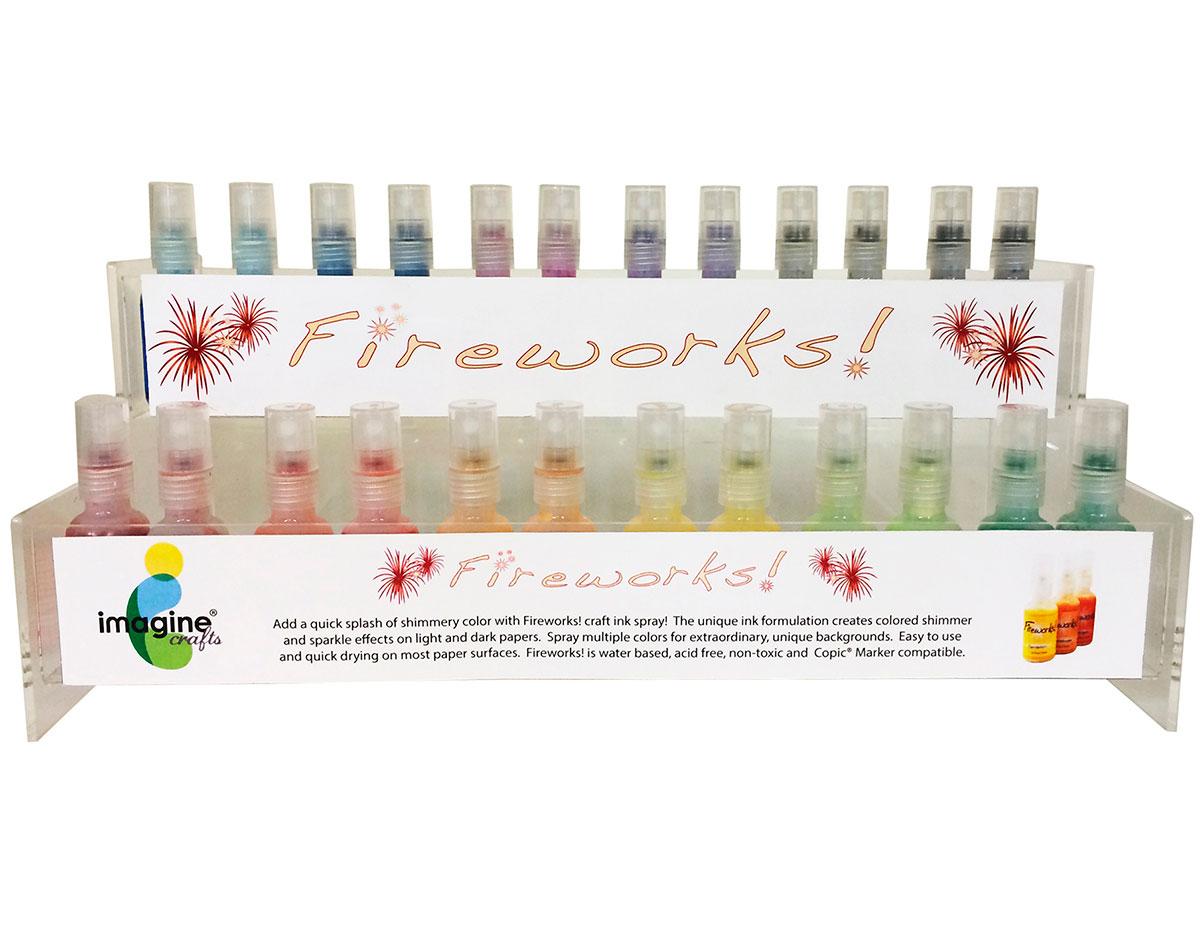 FW-100-072 Set 72 sprays de tinta brillante gomitas dulces display Fireworks!