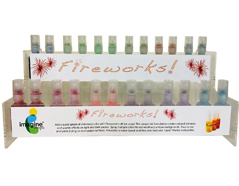 FW-200-072 Set 72 sprays de tinta brillante cucharadas de sorbete display Fireworks!