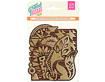 GRD-4639 GRAND BAZAAR -WOOD DIE CUTS - GOLD SCREENPRINT Basic Grey