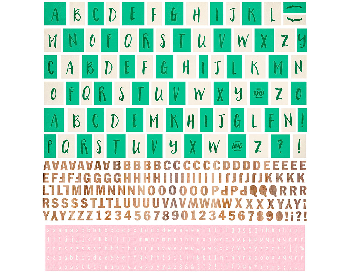 HIL-5089 Pegatinas alfabeto HILLSIDE Basic Grey