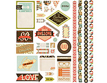 HIP-4104 HIPSTER - 12X12 ELEMENT STICKERS Basic Grey