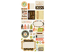 HIP-4105 HIPSTER - 5X12 TITLE STICKERS Basic Grey