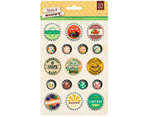 HRB-4510 HERBS HONEY - BOTTLECAP STICKERS Basic Grey