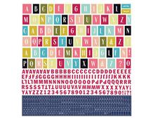 JAD-4791 Pegatinas alfabeto J ADORE en hojas Basic Grey