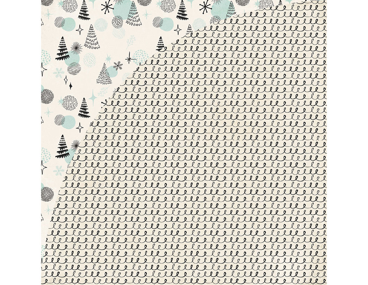 JBY-4941 Papel doble cara JUNIPER BERRY Garland Basic Grey