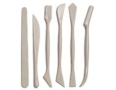 K040 Set 6 herramientas plastico para modelar Hobby line