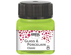 K16221 Pintura porcelana brillante 160C verde claro Hobby line