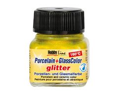 K16280 Pintura porcelana PORCELAIN GLASS COLOR 160C purpurina amarillo Hobby line