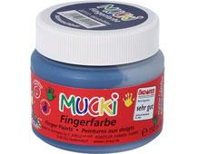 K22111 H LINE MUCKI Pinturas de dedos Azul oscuro 150 ml Hobby line
