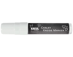 K22731 Rotulador tiza CHALKY CHALK XXL blanco nieve punta cincel 15mm Aprox C Kreul